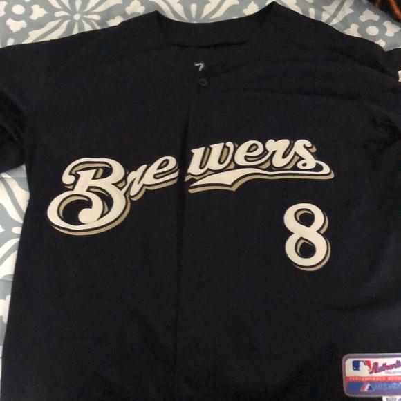 100% authentic f103e 9ee1f Milwaukee Brewers Ryan Braun Jersey.